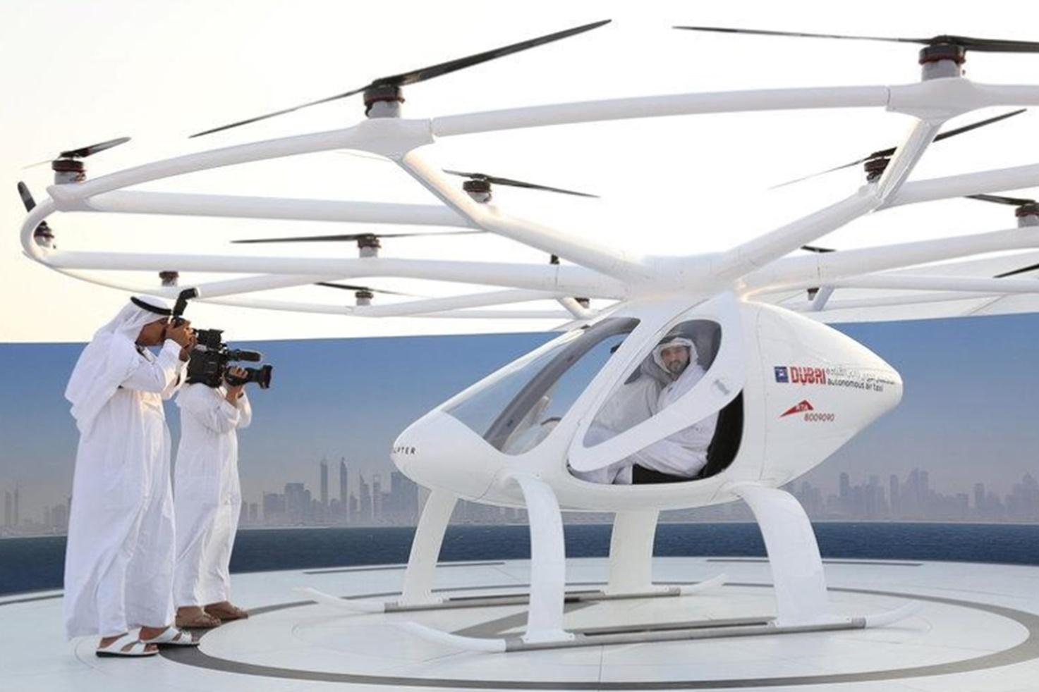 """Imagem de Dubai testa primeiro drone para serviço de """"táxi aéreo sem piloto"""" no tecmundo"""