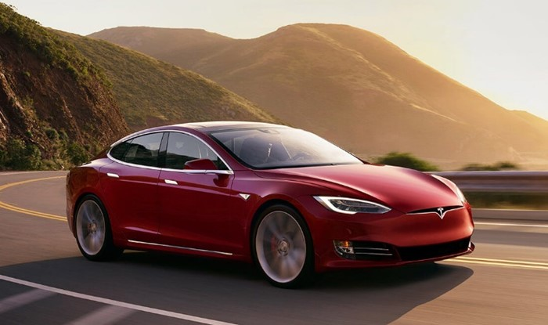 O carro Tesla Model S.