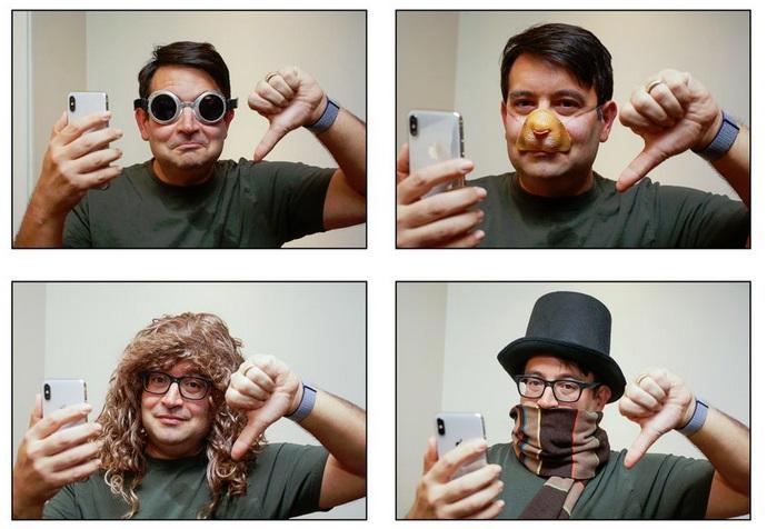 Quatro fotos de um homem;