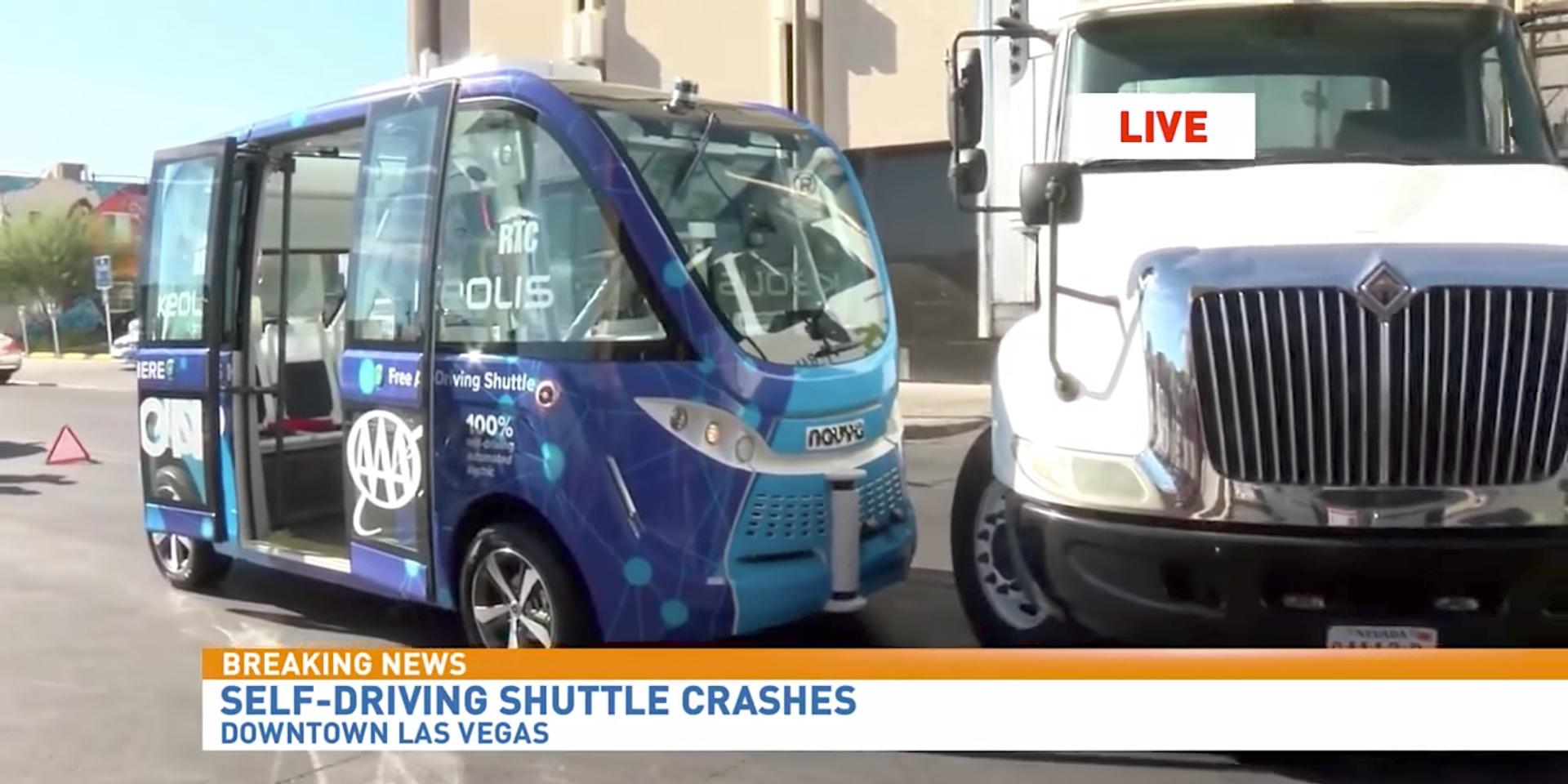 Imagem de Shuttle autônomo de Las Vegas se envolve em acidente... Causado por humano no tecmundo