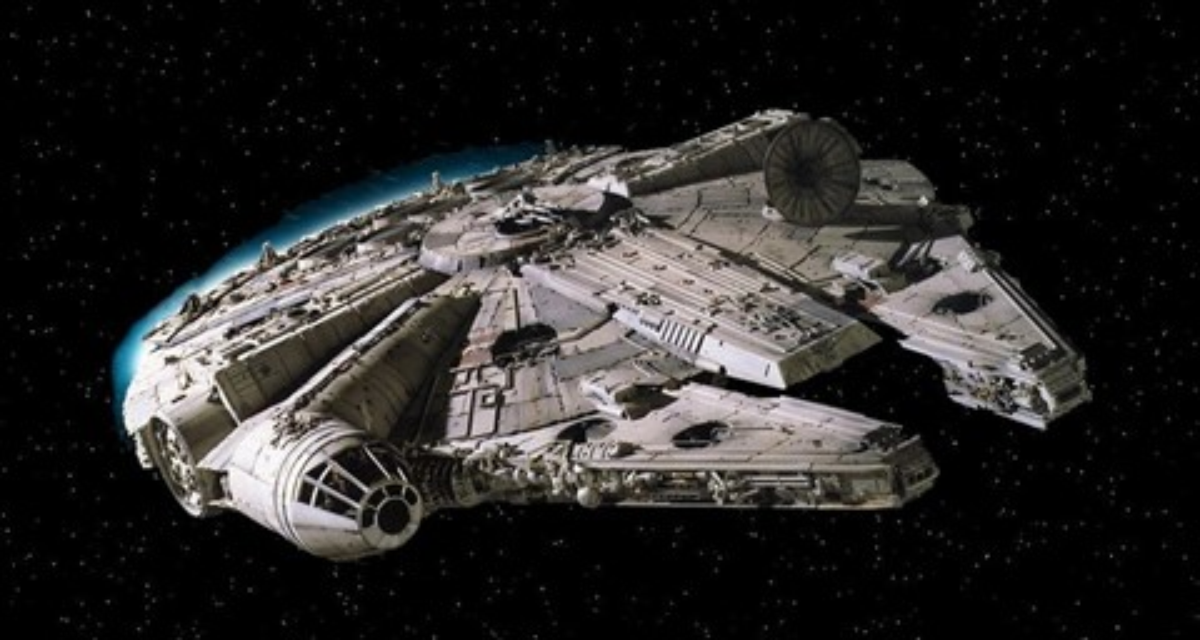 Imagem de Millennium Falcon, de Star Wars, é flagrada em imagens do Google Maps no tecmundo