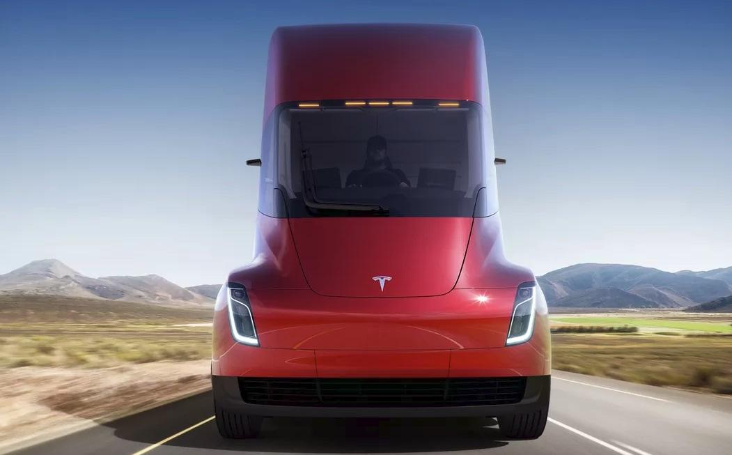Um caminhão da Tesla.