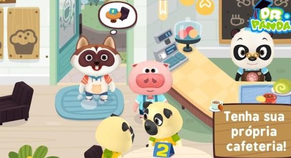 Uma cena de um jogo.