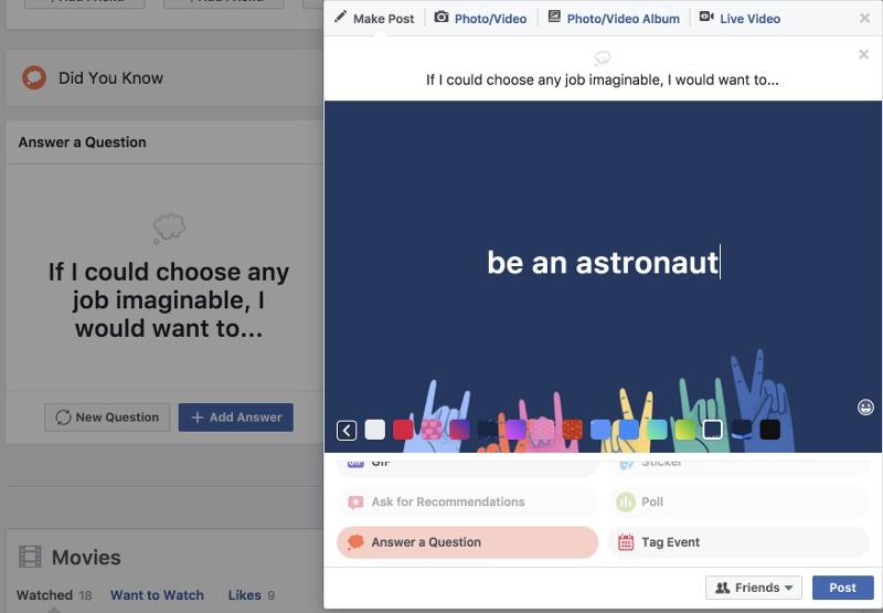 Facebook enquete