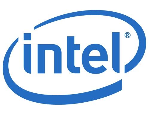 A logo da Intel.