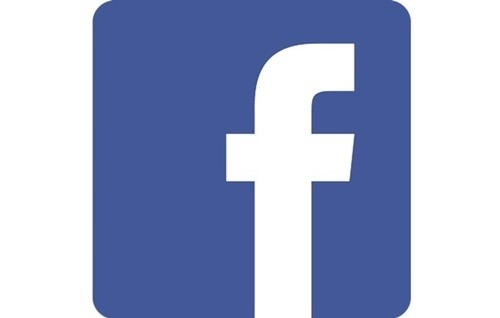 A logo do Facebook.
