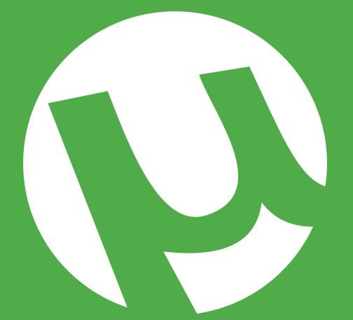 A logo do uTorrent.