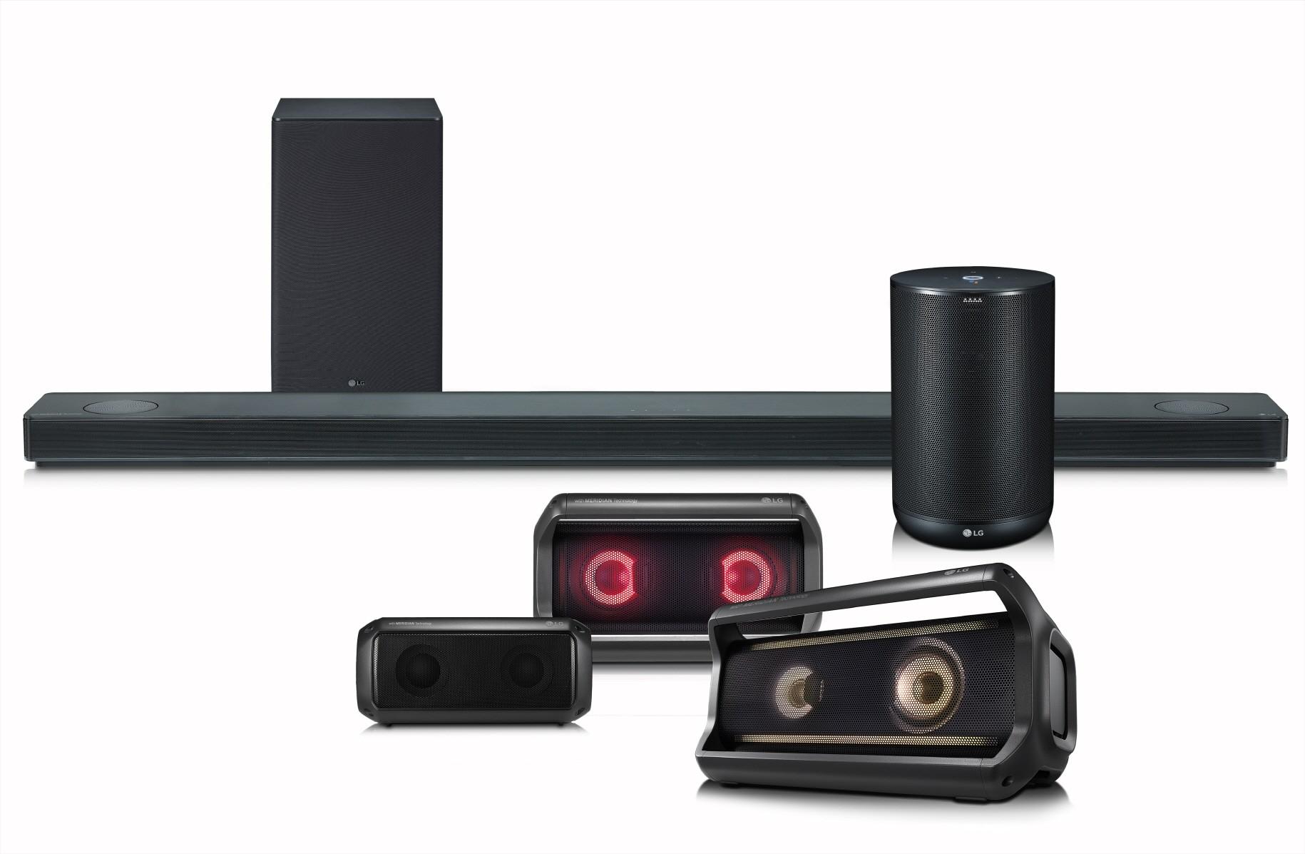 Linha de Speakers da LG