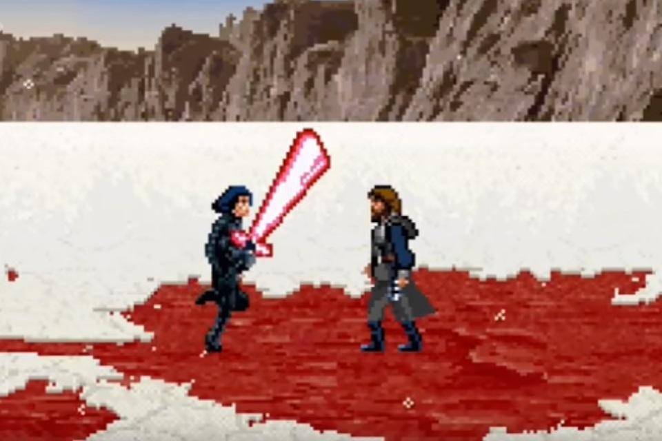 Imagem de Como seria a luta entre Luke Skywalker e Kylo Ren em 16 bits [com spoilers] no tecmundo