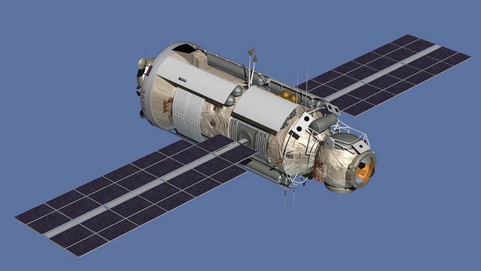 Um módulo de satélite.