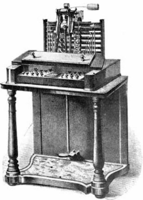 Uma máquina de escrever.