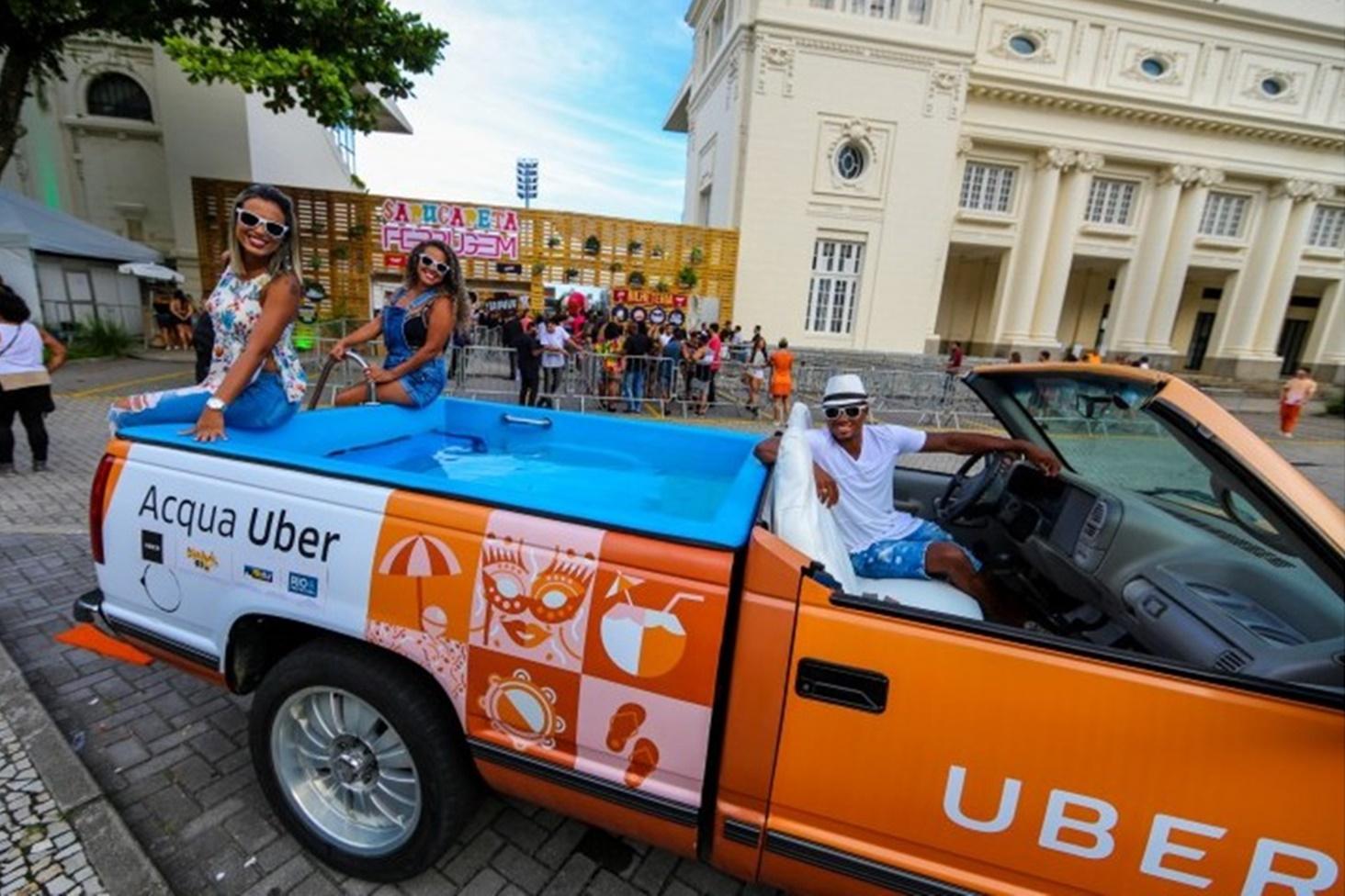 Imagem de Uber coloca picape com caçamba de piscina para circular no Rio de Janeiro no tecmundo
