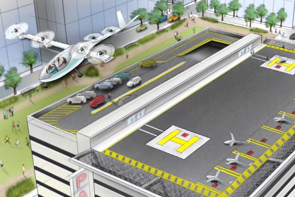 """Imagem de Uber acredita lançar """"táxis voadores"""" entre os próximos 5 e 10 anos no tecmundo"""
