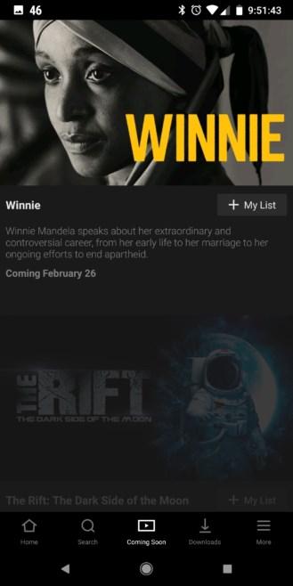 Aplicativo da Netflix.