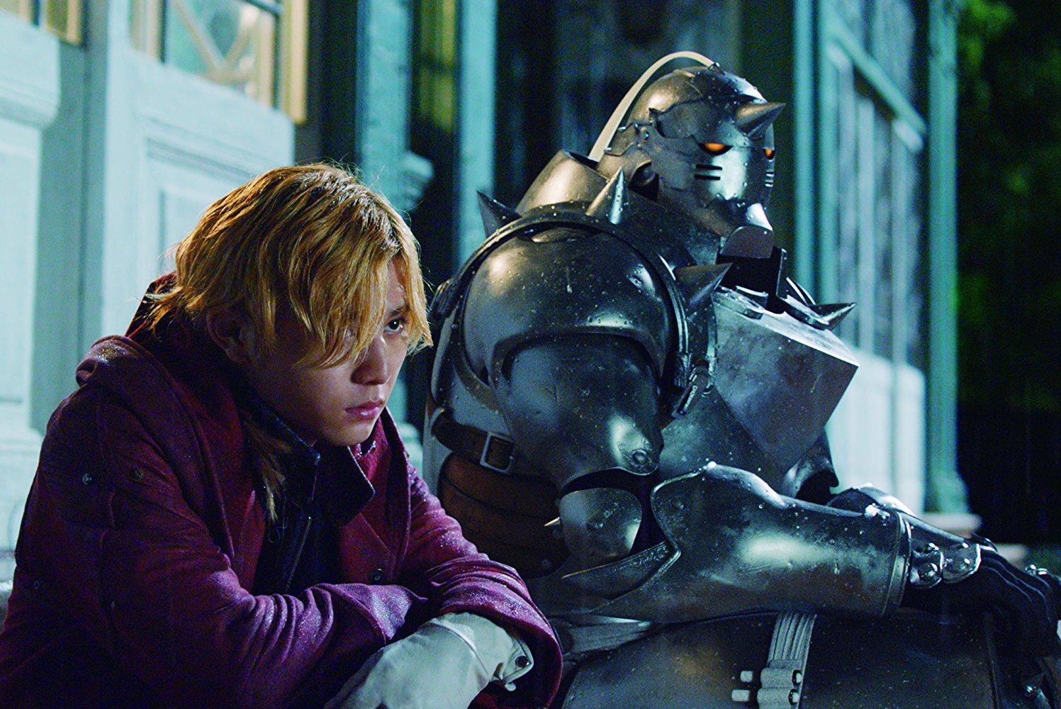 Edward e Alphonse na chuva