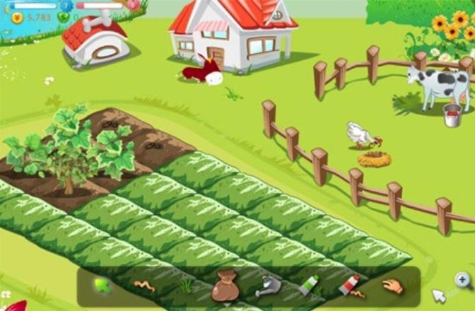 Uma fazenda virtual.