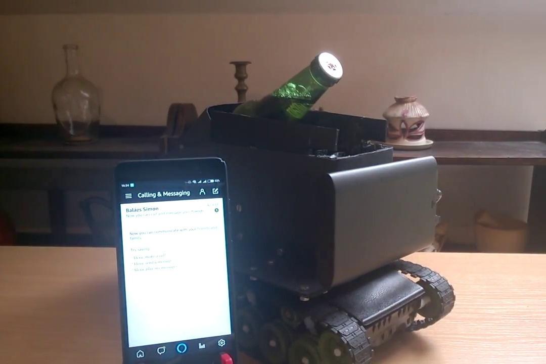Imagem de Homem usa Raspberry Pi e Alexa para criar robô carregador de cerveja no tecmundo