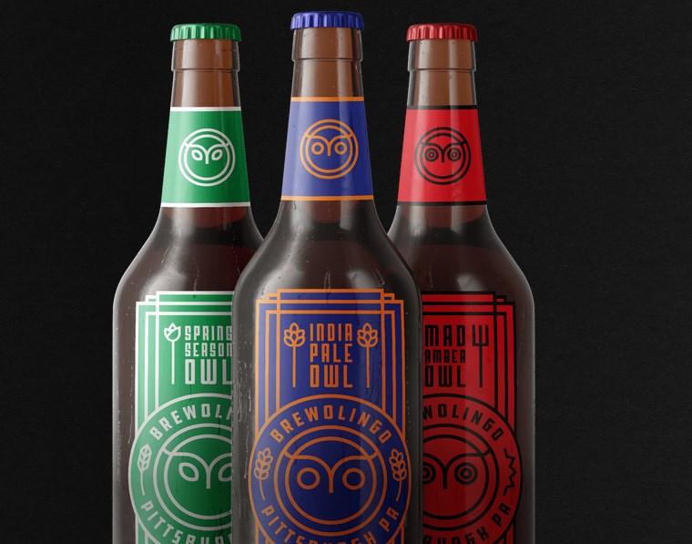 Três cervejas.