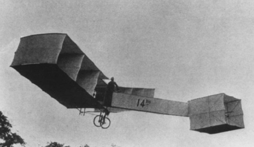 Um avião.