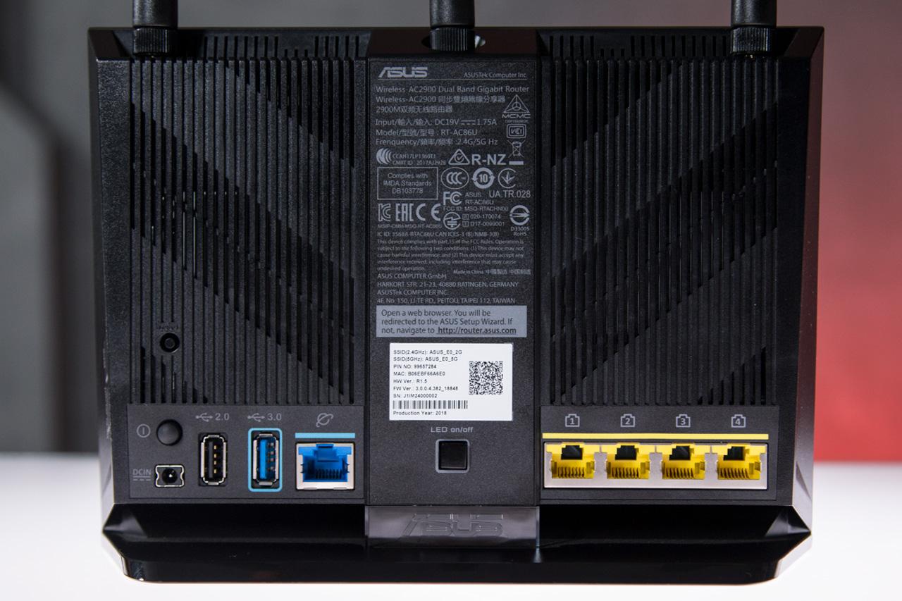 Conexões do ASUS RT-AC86U