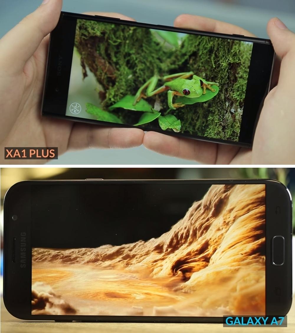Xperia XA1 Plus vs Galaxy A7