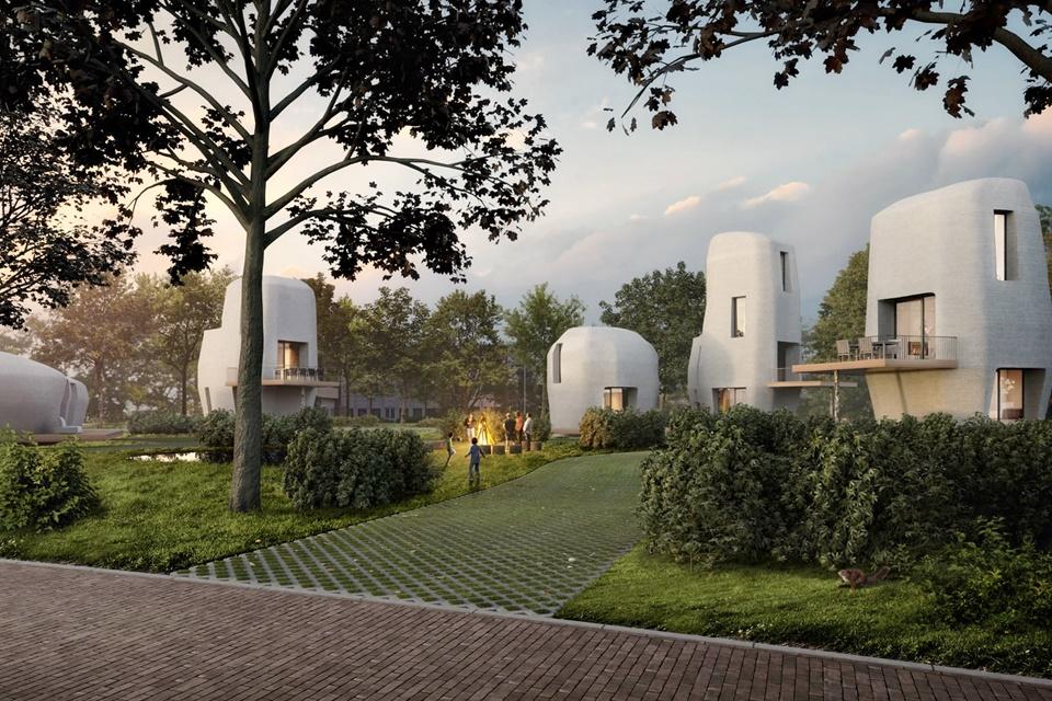 """Imagem de Holanda começa a construir primeiras casas feitas com """"concreto 3D"""" no tecmundo"""