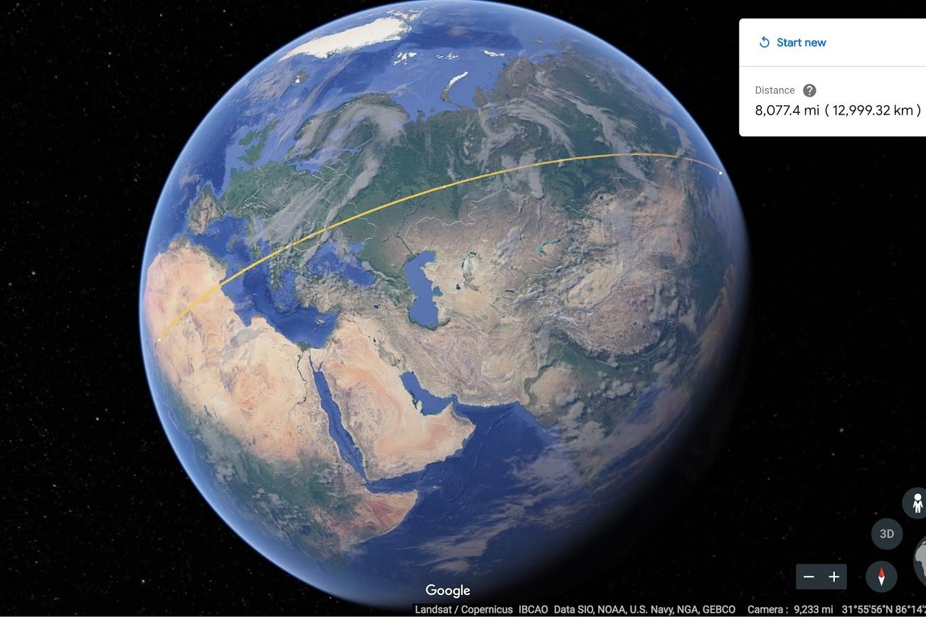 Imagem de Google Earth ganha ferramenta para medir distâncias, áreas e perímetros no tecmundo