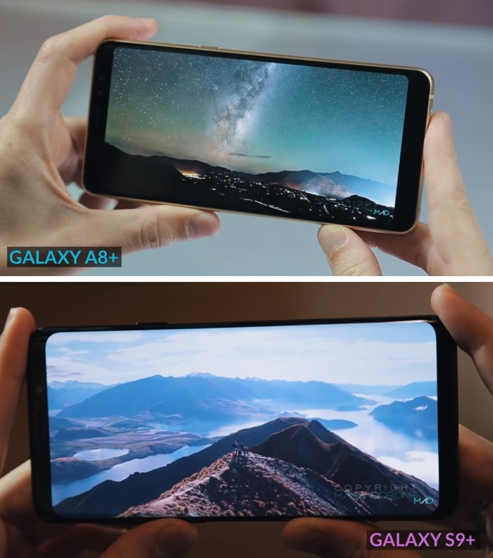 Samsung Galaxy A8+ vs S9+