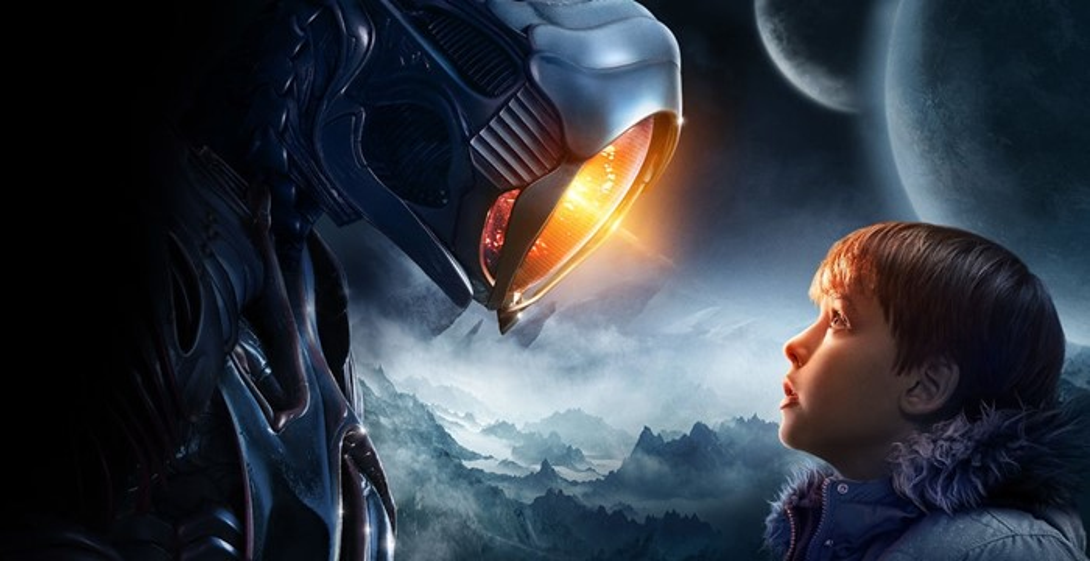Um robô e uma criança.
