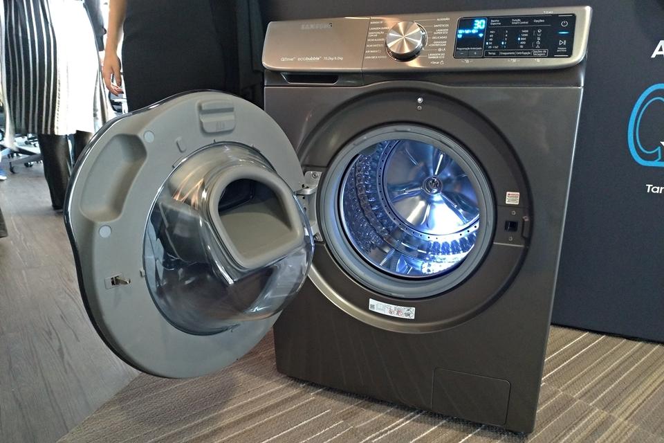 Imagem de Samsung traz ao Brasil máquina de lavar inteligente com ciclos mais rápidos no tecmundo