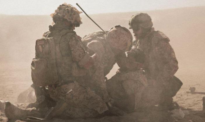 Soldados na guerra.