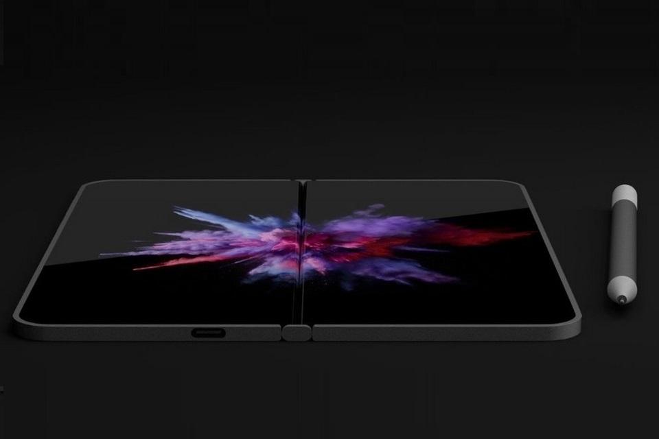 Imagem de Patente do Surface Phone sugere retorno da tela dupla com dobradiça no tecmundo