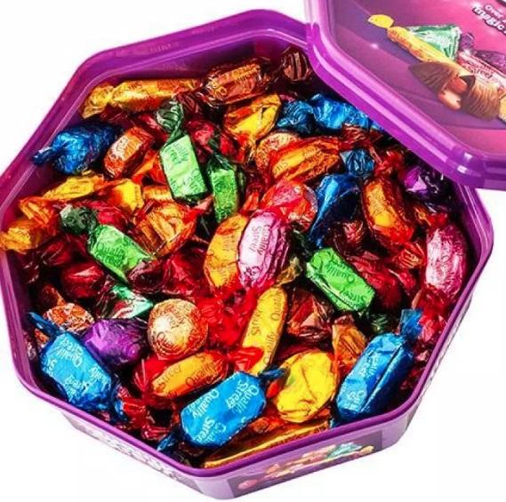 Uma caixa de chocolate.