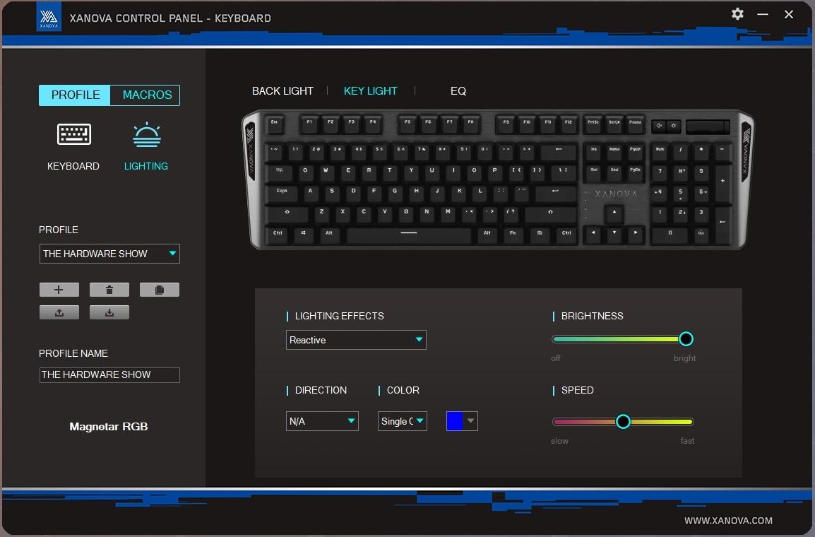 Software Xanova Control Panel