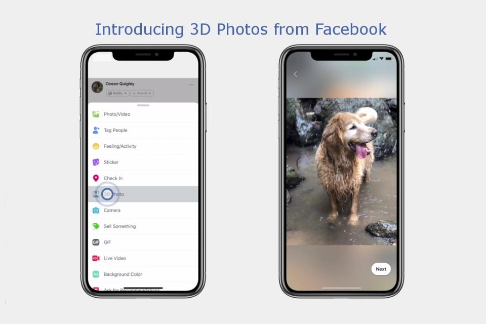 Facebook libera postagens de fotos em 3D no Feed 6ea691f2df