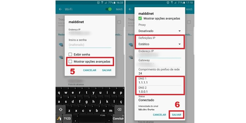 Como trocar o DNS em dispositivos Android e iOS (iPhone e iPad) 4