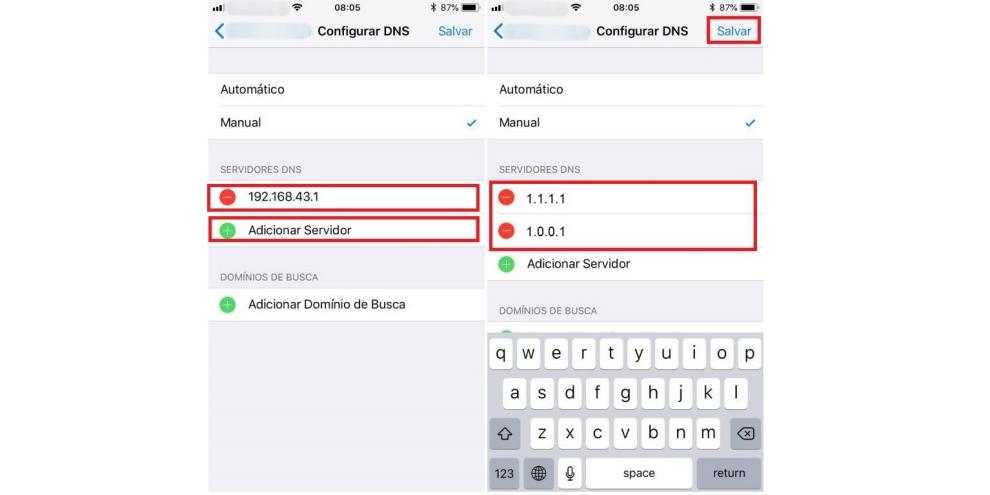 Como trocar o DNS em dispositivos Android e iOS (iPhone e iPad) 7