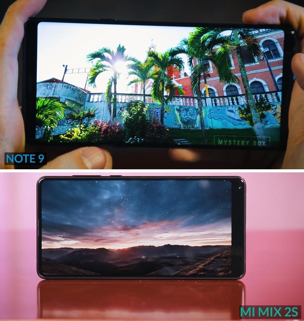 Mi Mix 2s vs Galaxy Note 9