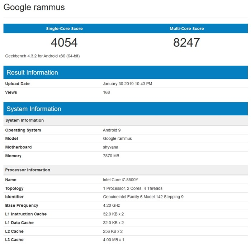Google rammus