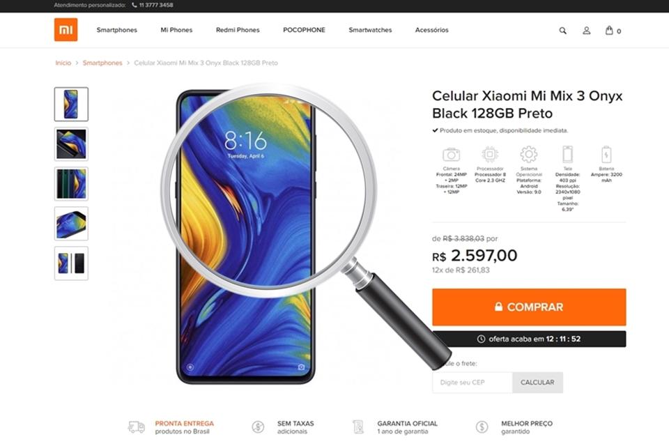 Imagem de Site não autorizado finge ser loja oficial da Xiaomi no Brasil  no tecmundo