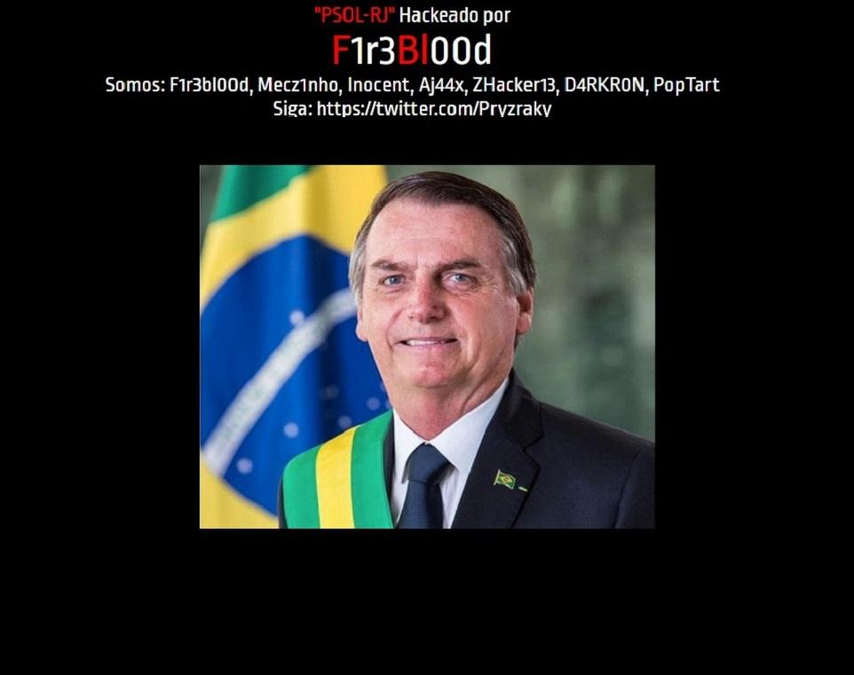 Imagem de Site do PSOL é hackeado com foto de Jair Bolsonaro no tecmundo