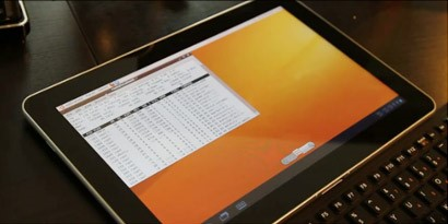 Imagem de Hacker demonstra Ubuntu 10.10 rodando no Galaxy Tab no site TecMundo