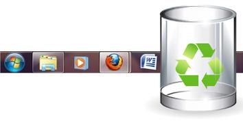 Imagem de Dicas do Windows 7: como colocar a Lixeira na Superbar no site TecMundo
