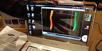 Imagem de Samsung apresenta laptop transparente no site TecMundo