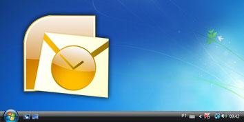 Imagem de Como colocar o Outlook na Área de trabalho no site TecMundo