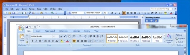 Windows 7 abre diferentes versões do Word
