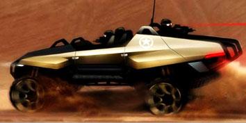 Imagem de DARPA mostra carros militares projetados em concurso no site TecMundo