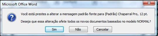 Alterando as configurações no modelo Normal